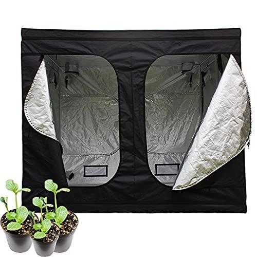 Growzelt Grow Tent,Indoor Growbox Growroom Growschrank Darkroom Pflanzenzelt Gewächshaus Zuchtzelt,Growschrank für Homegrow,Lichtdicht und Wasserdicht Pflanzzelt,Höhe 200cm (240*240*200 cm)