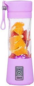 Kitchen Appliances Fruit Juicer 380ml Electric Mini Fruit Juicer Cup USB Smoothie Maker Blender Shaker Bottle - Purple