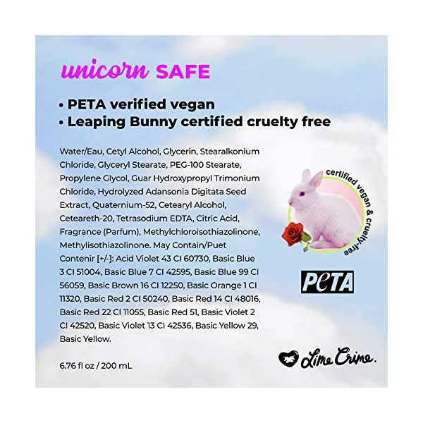Lime Crime Unicorn Hair Dye, Neon Peach - Vibrant Peach Fantasy Hair Color - Full Coverage, Ultra-Conditioning, Semi… 10