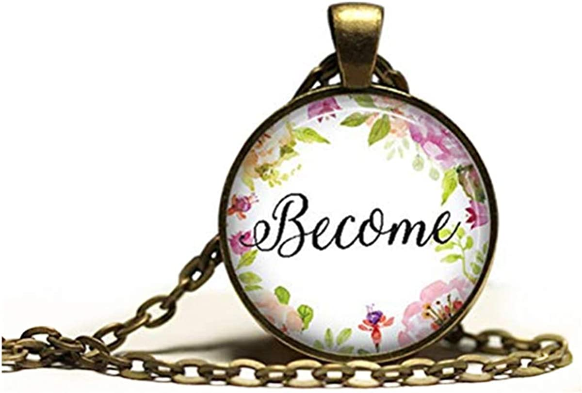 Antique pendant ,Motivation jewelry ,Speech necklace,Dome glass jewelry, pure hand-made