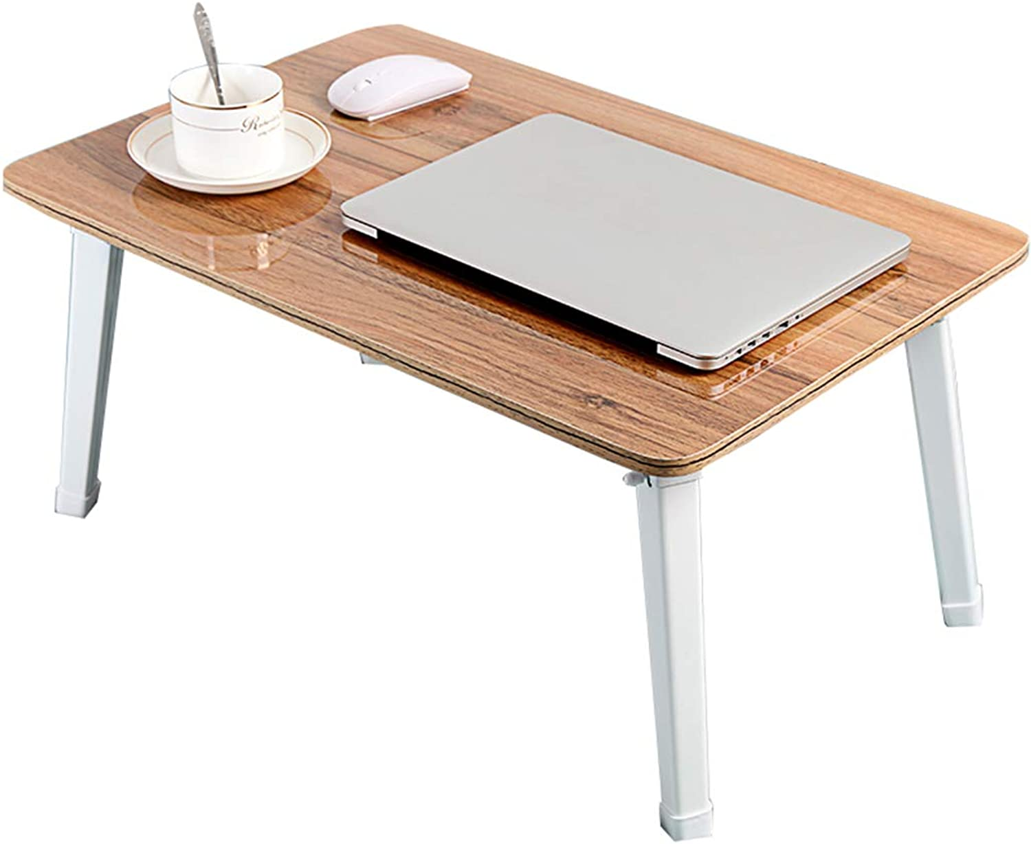 C-J-Xin Folding Table, Bedroom Bed Small Table Living Room Balcony Coffee Table Office Study Table Dining Table Laptop Table Household table (color   A)