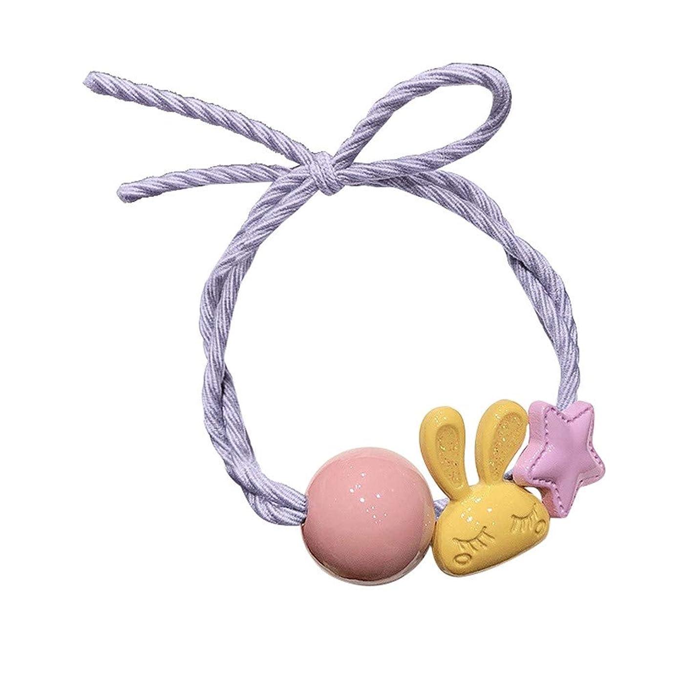雄弁家ネット休憩する女性の女の子子供のヘアバンドネクタイロープリング弾性ヘアバンドポニーテールホルダー ウサギの髪のリングブレスレットデュアルヘッドロープの女の子シンプルな髪のロープ韓国ネット赤いネクタイヘアバンドヘアアクセサリー (C)