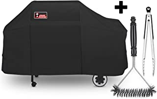 Kingkong 7552 Grill Cover for Weber Genesis Silver / Gold / 2000 - 5500 Gas Grills with Brush and Tongs