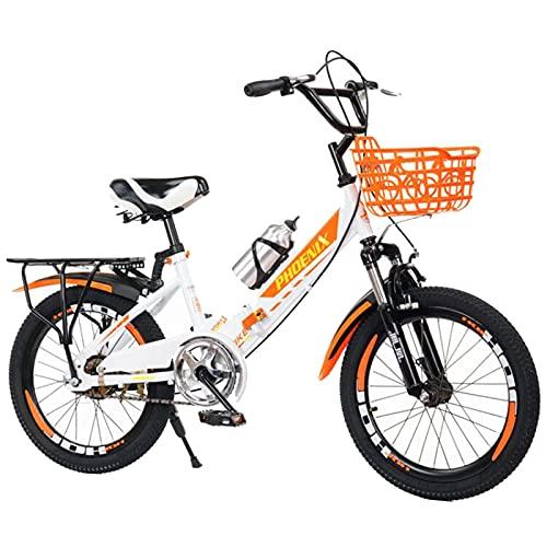 Gymqian Bici per Bambini Mountain Bike da 16-20 Pollici, Cambio a 21 Velocità, Telaio Pieghevole, Biciclette per Bambini per Biciclette per Ragazzi e Ragazze,16 Pollici