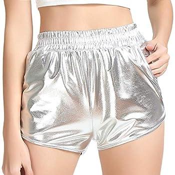 Metallic Rave Shorts Alien Costume for Women