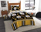Officially Licensed NFL Pittsburgh Steelers Twin Bed in a Bag Set, 64' x 86'