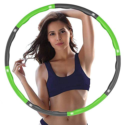 Hula Hoop Reifen für Erwachsene & Kinder; Fitnessreifen für Zuhause und Büro zum Abnehmen mit Gewichten und zur Massage für Anfänger; Schaumstoff und ergonomische Form führen zur Gewichtsreduktion