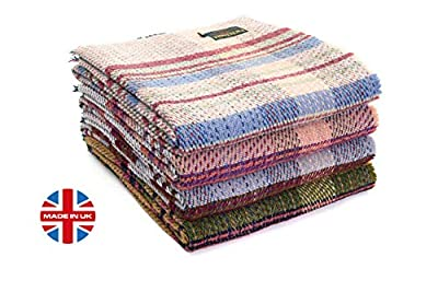 "Tweedmill Eco Friendly All Wool Picnic Throw Blanket Rug, Repurposed Recycled from Unused Wool in Manufacturing, 60""x72"", Made in UK"