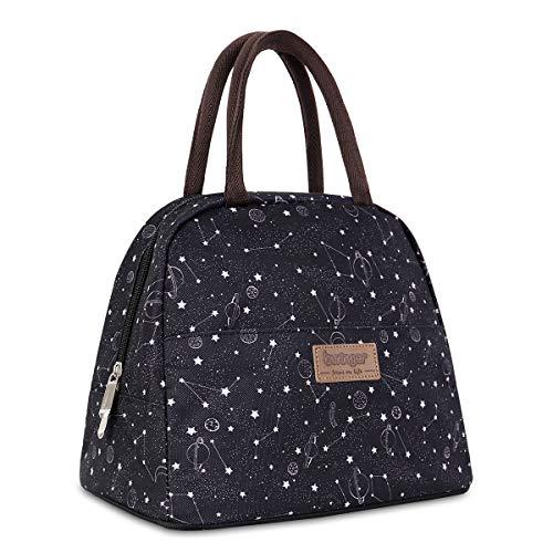 Newox buringer-homespon Isolierte Lunchtasche Lunch Bag Cooler Tote Box mit Reißverschluss vorne für Frau Mann Arbeit Picknick oder Reisen…