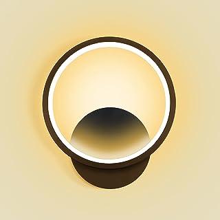 Kimjo Applique Murale Interieur LED 12W Lampe Murale 3000K Blanc Chaud Luminaire Mural, AC 220V Luminaires Intérieur Noir ...
