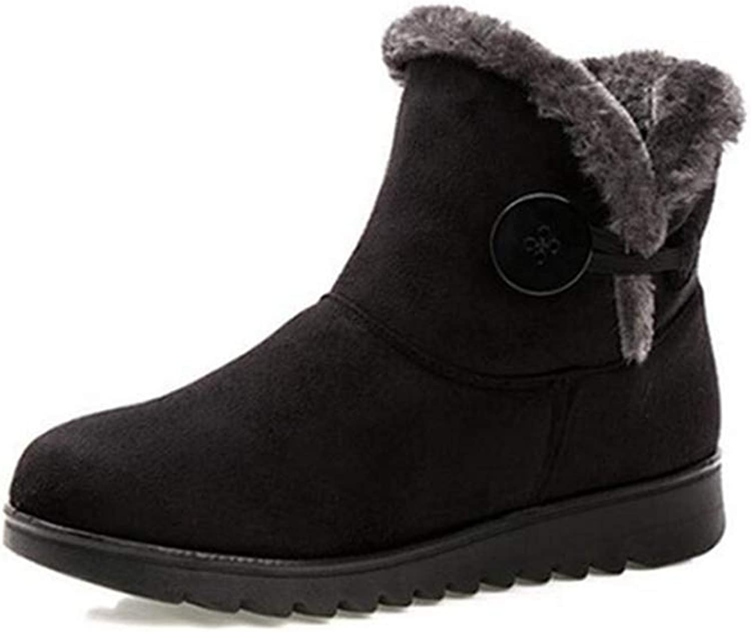 Fay Waters Women's Classics Winter Snow Boots Fur Lined Non-Slip Warm shoes Outdoor Ankle Booties