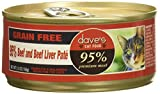 Dave'S 95% Beef & Beef Liver Pate Formula For Cats, 5.5 Oz Can (Case Of 24 )