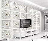 Papel pintado de celosía de yeso blanco con patrón europeo minimalista moderno Pared Pintado Papel tapiz 3D Decoración dormitorio Fotomural de estar sala sofá mural-400cm×280cm