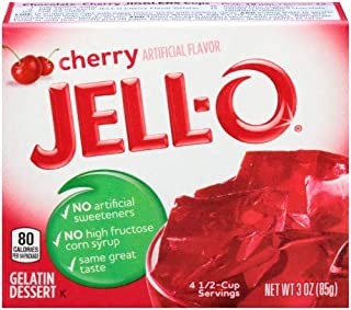 Jell-o Cherry Gelatin Dessert 3 Oz 4-pack