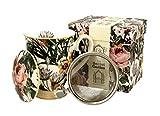 Duo Secret Garden - Juego de tazas de té (325 ml, con infusor y tapa, porcelana china, en caja de regalo), diseño de flores
