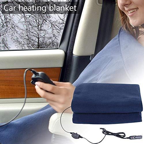 Manta de calefacción de automóvil de 12V, manta eléctrica de viaje multifuncional...