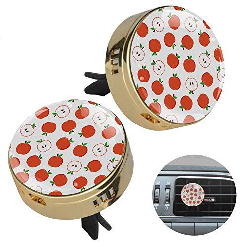 MUOOUM - Ambientador para coche con diseño de manzana, con clip de ventilación y fragancia
