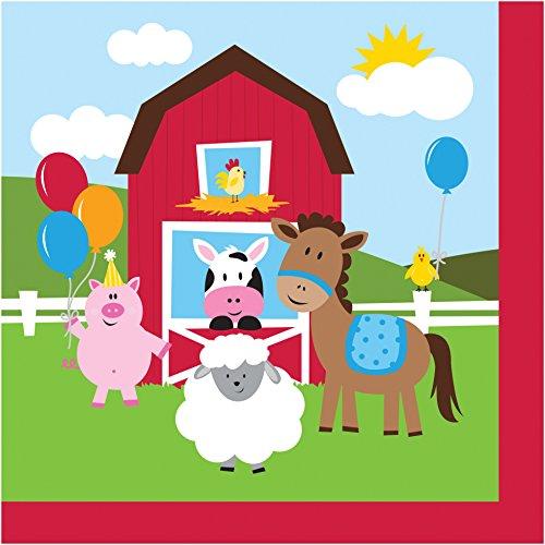 Creative Convertting 8C665506 Serviette, 33 x 33 cm, Farmhouse Fun, mehrfarbig