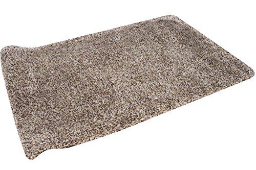 MAGIC CLEAN Schmutzfangmatte Fußmatte 70 cm Braun-Weiss