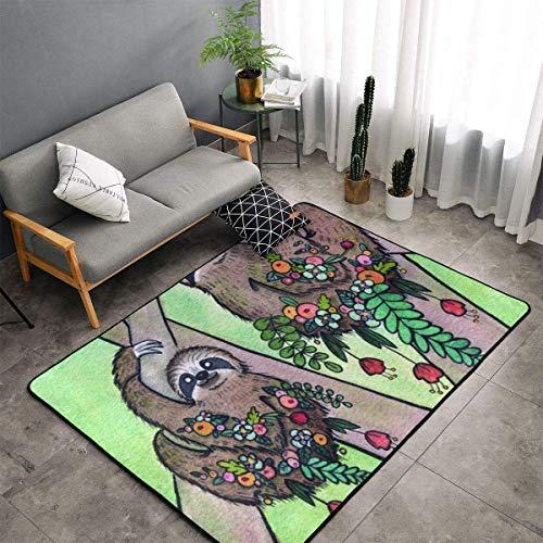 Comfort&products Alfombra extra grande para dormitorio, sala de estar, cocina, decoración del hogar, diseño de animales perezosos de My Spirit