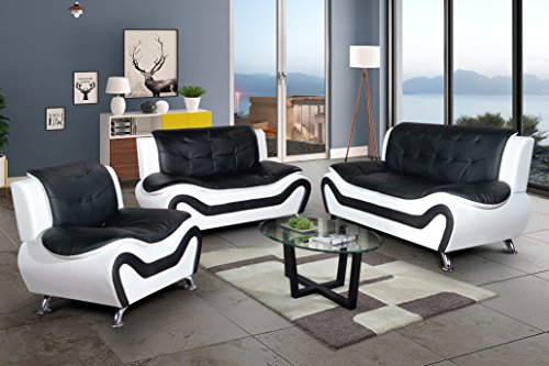 sillones contemporáneos sala de estar Juego De Sofs Aycp De 3 Piezas Contemporneo P Le