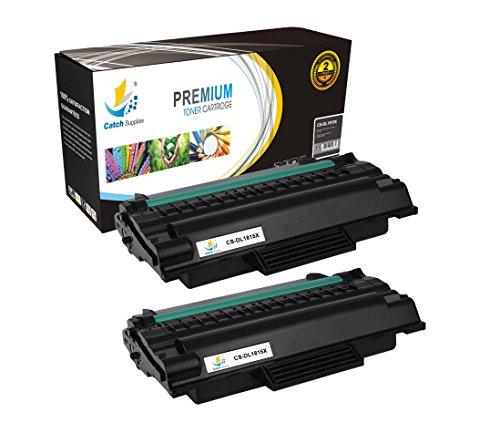Catch Supplies Juego de 2 cartuchos de tóner láser negro 310-7945 para la serie Dell 1815, rendimiento de 5.000, compatible con las impresoras Dell MFP 1815DN