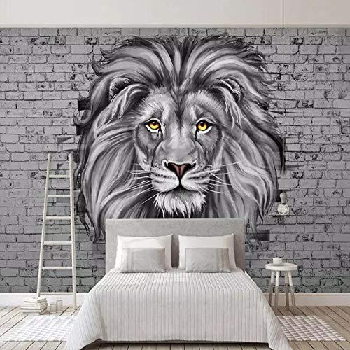 Fototapete Löwe Vlies Tapete Moderne Wanddeko Tapeten Design 3D Wandtapete Wohnzimmer Schlafzimmer Büro Flur Wand Dekoration Wandbilder - 250x175 cm
