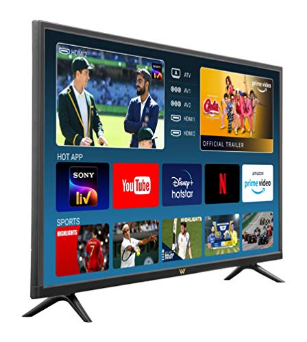 VW 80 cm (32 inches) HD Ready LED Smart TV VW32PRO (Black) (2021 Model)