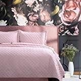 Bedsure Quilt Sets Queen Pink Bedspreads Full Size - for Queen Bed Coverlet Lightweight - 3 Pieces (Includes 1 Quilt, 2 Shams)
