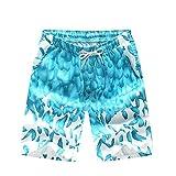 Lazzon Shorts de Bain Homme Maillot de Bain Garçons Boxer de Plage pour Vacance Sport Natation