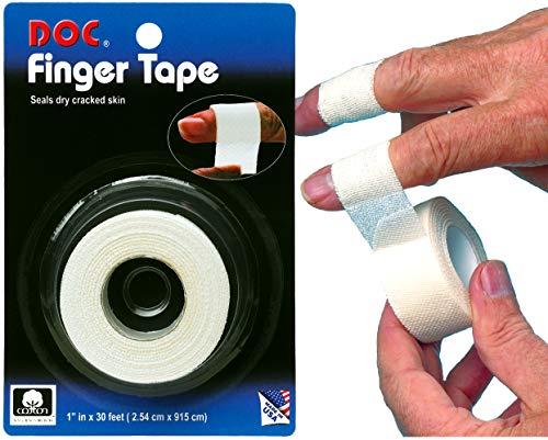 Tourna Unisex– Erwachsene Doc Finger Wrap, weiß, One Size
