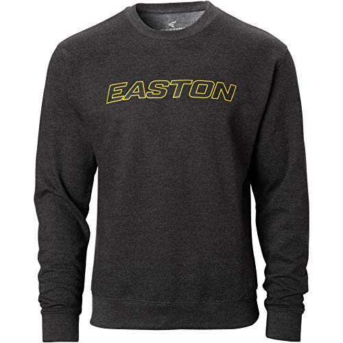 Easton Mens Graphic Fleece Crewneck Baseball Sweatshirt Charcoal S