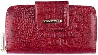 8a98b0d609018 Carteira feminina Cindy em couro legítimo vermelha