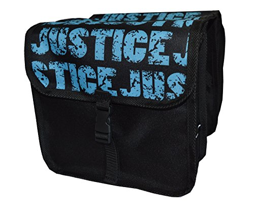 Beluko FAHRRADTASCHE Kinder Satteltasche Gepäckträgetasche Doppel 2 x 5l (10. Mini - Justice)