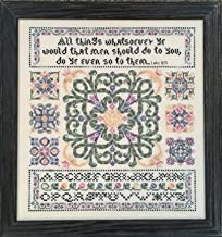 Golden Rule Cross Stitch Chart and Free Embellishment