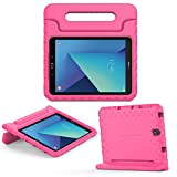 MoKo Galaxy Tab S3 9.7 Case - EVA Kids Shock Proof Convertible Handle Light Weight Super Protective Stand Cover Case for Samsung Galaxy Tab S3 9.7' Android 7.0 2017 Tablet (SM-T820 / T825), Magenta