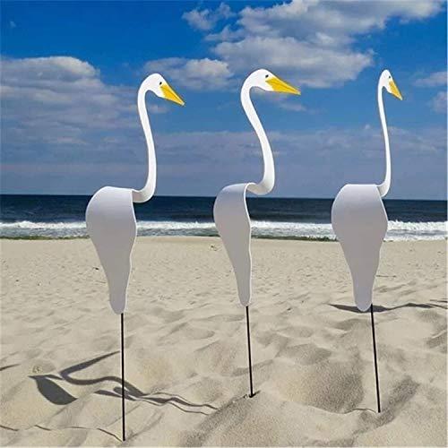 3 Stück Swirl Bird-a Whimsical and Dynamic Bird That Spins with The Slight Garden Breeze, Flamingo Windspiele zum Valentinstag, Gartendekoration für Hochzeitsterrasse Hinterhof Beach Party Dekor