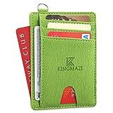 Slim Minimalist Front Pocket RFID Blocking Wallets, Credit Card Holder for Men Women with D-Shackle (Y112-8) rfid blocking sleeves Dec, 2020