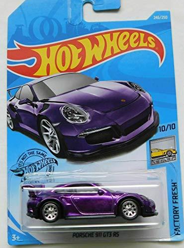 Hot Wheels Factory Fresh 10/10 Super Treasure Hunt Porsche 911 GT3 RS, Purple