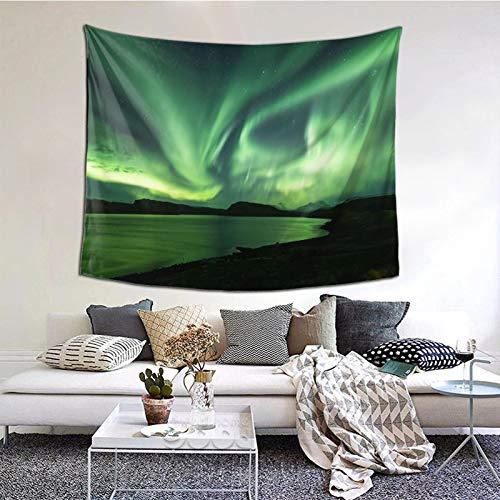 KCOUU Wandteppich zum Aufhängen im Schlafzimmer, Happy Northern Lights Tour von Reykjavik, Wandbehang, Tagesdecke, Picknickdecke, Wandteppich, Überwurf, Wanddecke, Kunstdekoration