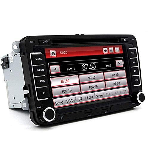 KLL 2 DIN 7' DVD del Coche Radio Reproductor Multimedia Ajuste para VW Skoda Octavia Fabia Rapid Yeti Seat Leon Navegador GPS Audio Estéreo