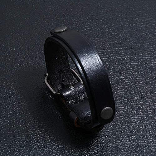 TIANYOU Personalidad Simple Pusilla Pusil de Cuero Pulseraje Accesorios Joyería-Negro Desgaste Diario / 10mm Red Agate Six Proverbs