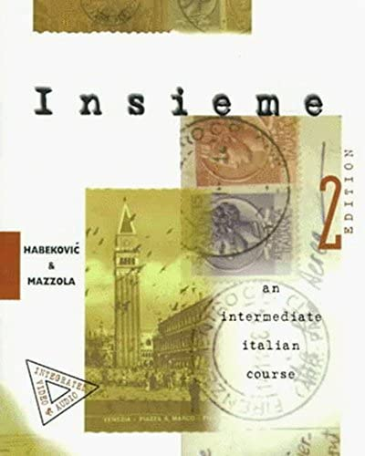Insieme An Intermediate Italian Course Student Edition product image
