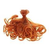 Homyl Handgemachte Puppen Lockige Perücke Haar Für weibliche Puppen Make Up Zubehör - Orange Rot