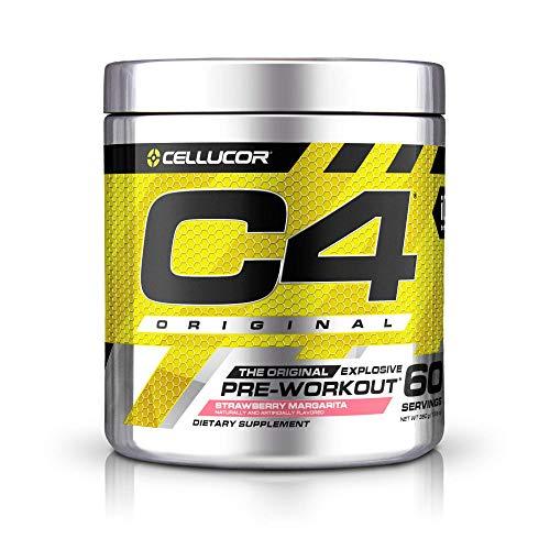 C4 Original Pre Workout Powder Strawberry Margarita| Vitamin C for Immune Support | Sugar Free Preworkout Energy for Men & Women | 150mg Caffeine + Beta Alanine + Creatine | 60 Servings