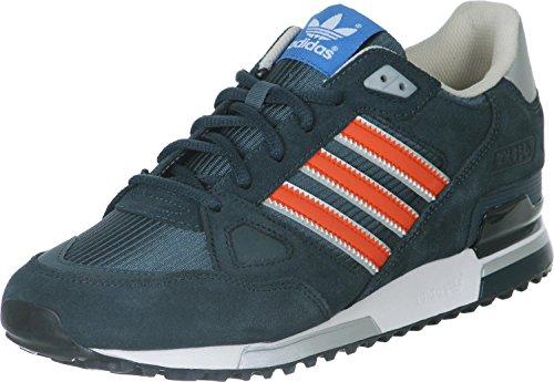 adidas ZX 750, Chaussures Homme - Multicolore - Bleu Marine/Orange/argenté, 37 1/3 EU (4.5 UK) EU
