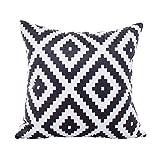 Kissenbezug, modern, minimalistisch, gestreift, geometrisches Muster, 45 x 45 cm, Heimdekoration,...