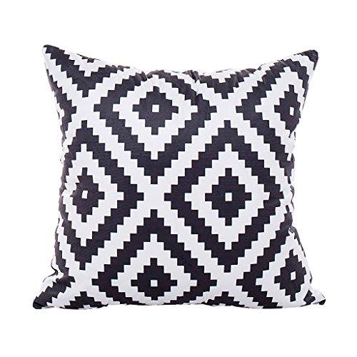 Kissenbezug, modern, minimalistisch, gestreift, geometrisches Muster, 45 x 45 cm, Heimdekoration, schwarz und weiß, von Cuigu, Nr.2, Einheitsgröße