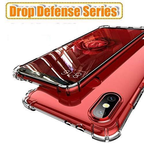 Caresale Transparent Back Case Cover for Xiaomi Redmi Mi 9A Anti Drop Shockproof with Bumper Corner Screen and Camera Protection Soft Silicone TPU Case - Transparent
