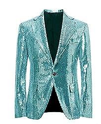 Ice Blue/C Splendid Sequins Lapel Tuxedo Jacket